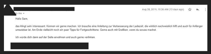 Backlinks aufbauen: E-Mail Template