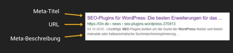 Meta-Informationen Google