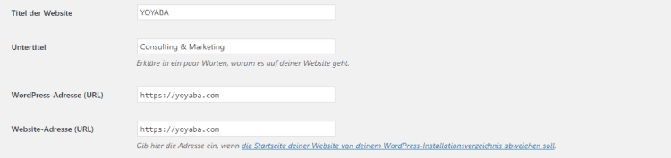 WordPress URL Version