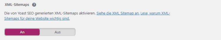 XML Sitemap Yoast sEO
