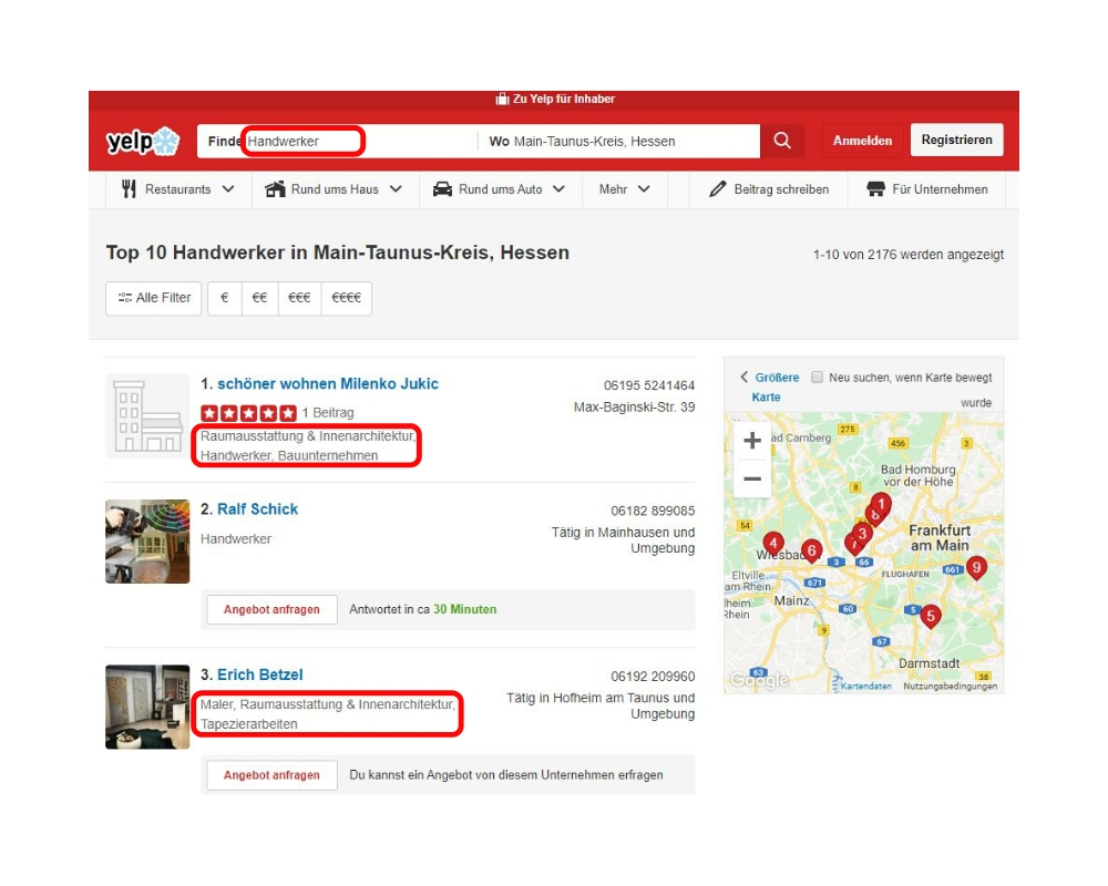 Yelp für local SEO