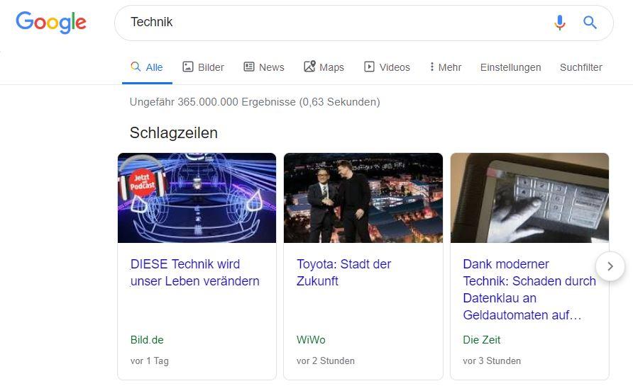 Google Schlagzeilen als Ranking Faktor
