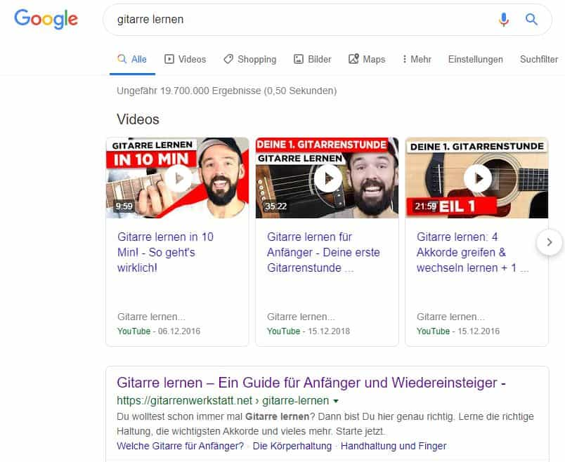 Google Feature-Funktionen