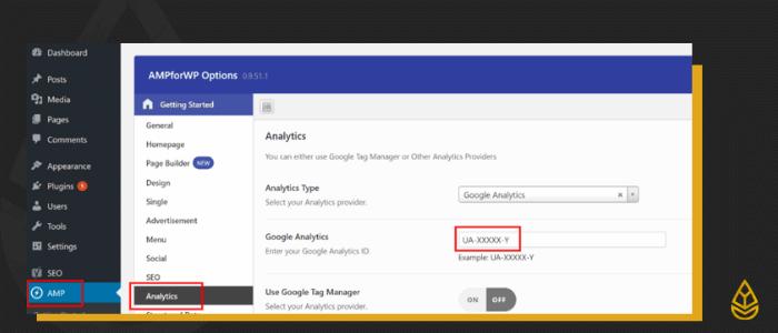 AMP für WordPress Google Analytics Einrichtung