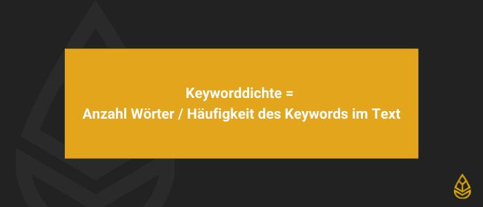 Keyword Stuffing und Keyworddichte
